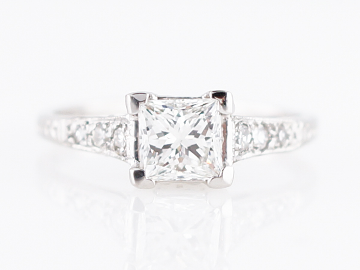 dress - Princess Antique cut engagement rings video