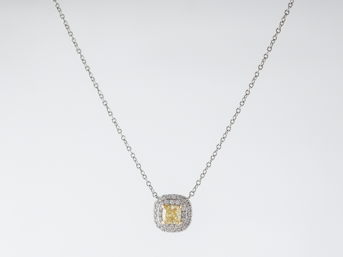 40d5aadb48573 Necklace Modern .31 Princess Cut Diamond in 18k White Gold