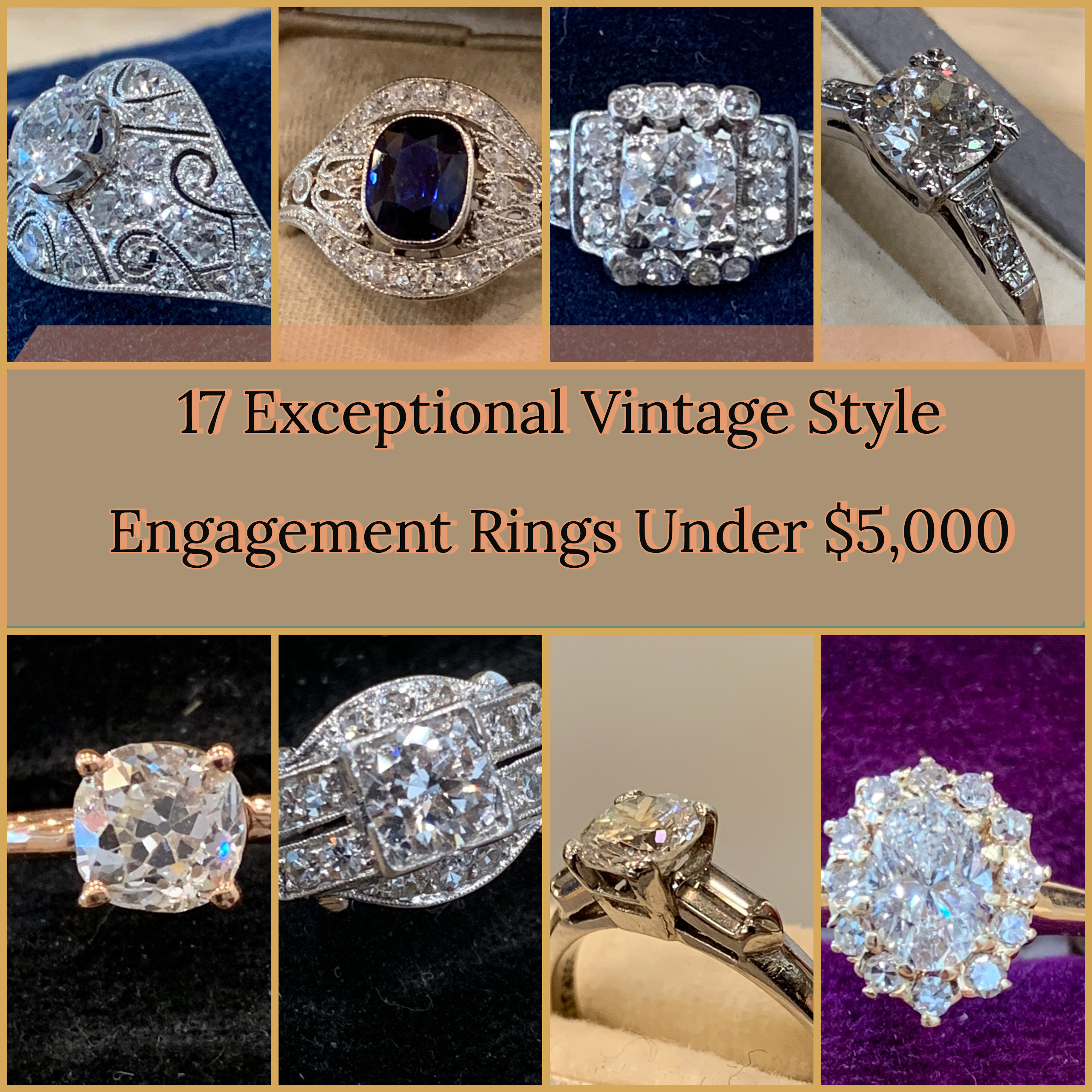 ad7f56838af38 17 Exceptional Vintage Style Engagement Rings Under $5,000