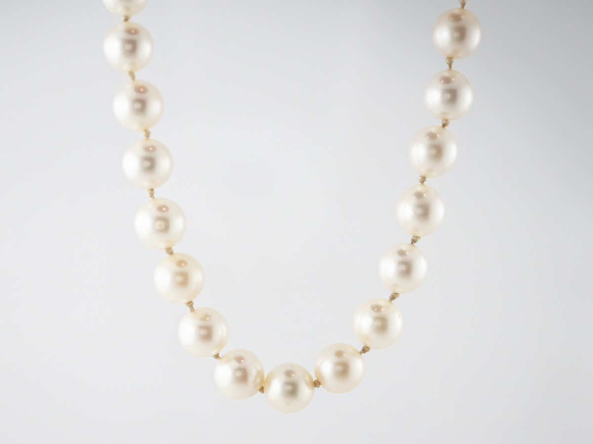 Necklace Pearl Modern in 14k White Gold