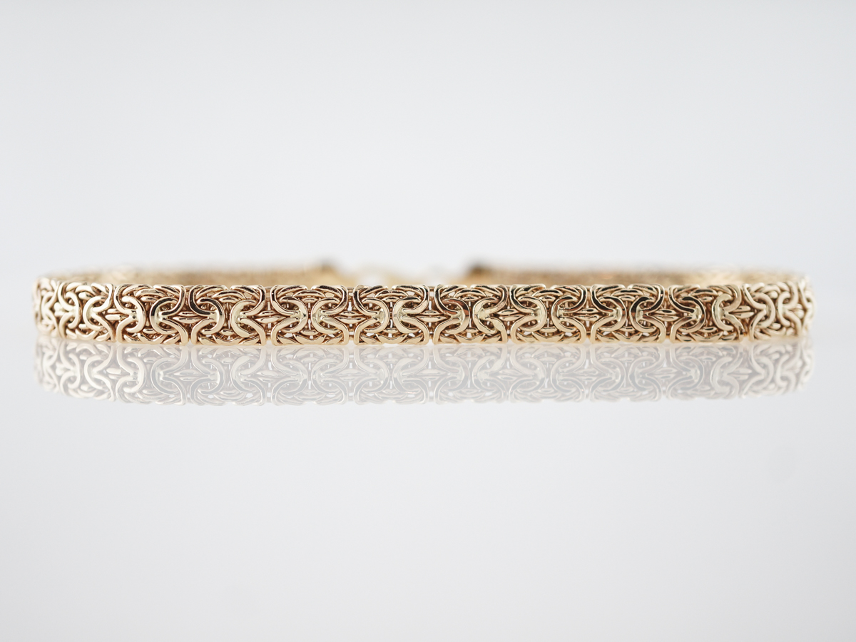 Modern Byzantine Bracelet in 14k Yellow Gold