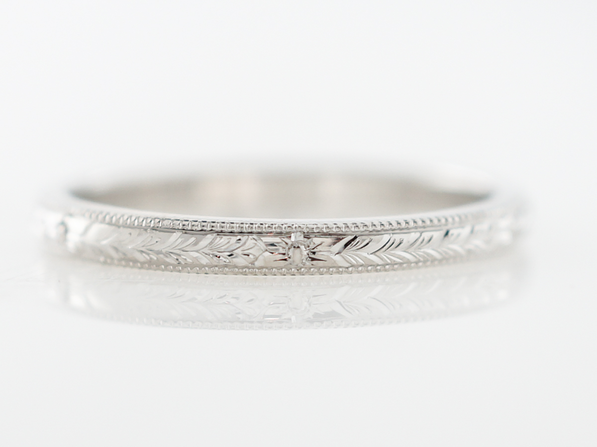 Wedding Band Modern in Platinum