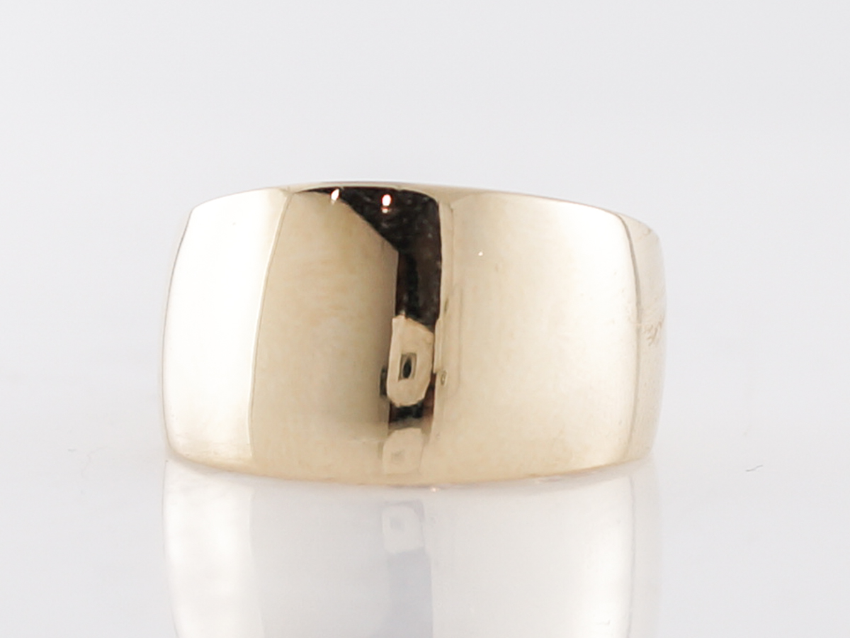 Vintage Right Hand Ring Mid-Century in 14k Yellow Gold