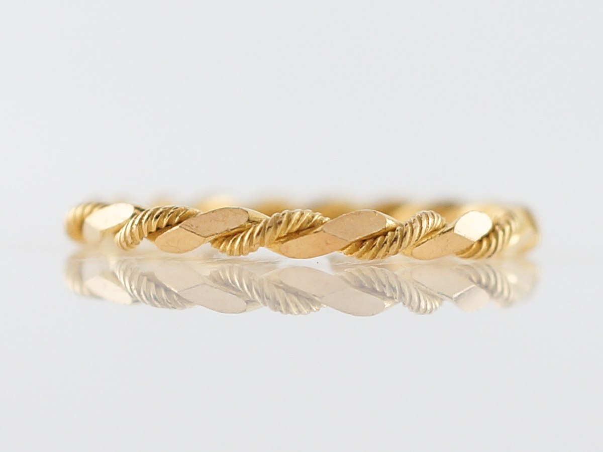 Wedding Band Modern Twisted Rope in 18k Yellow Gold