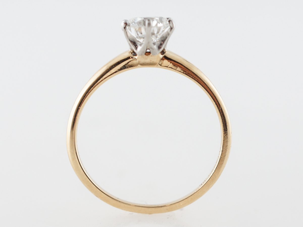 328b8d47d Vintage Victorian Tiffany & Company Diamond Solitaire Engagement Ring in  18k Yellow Gold
