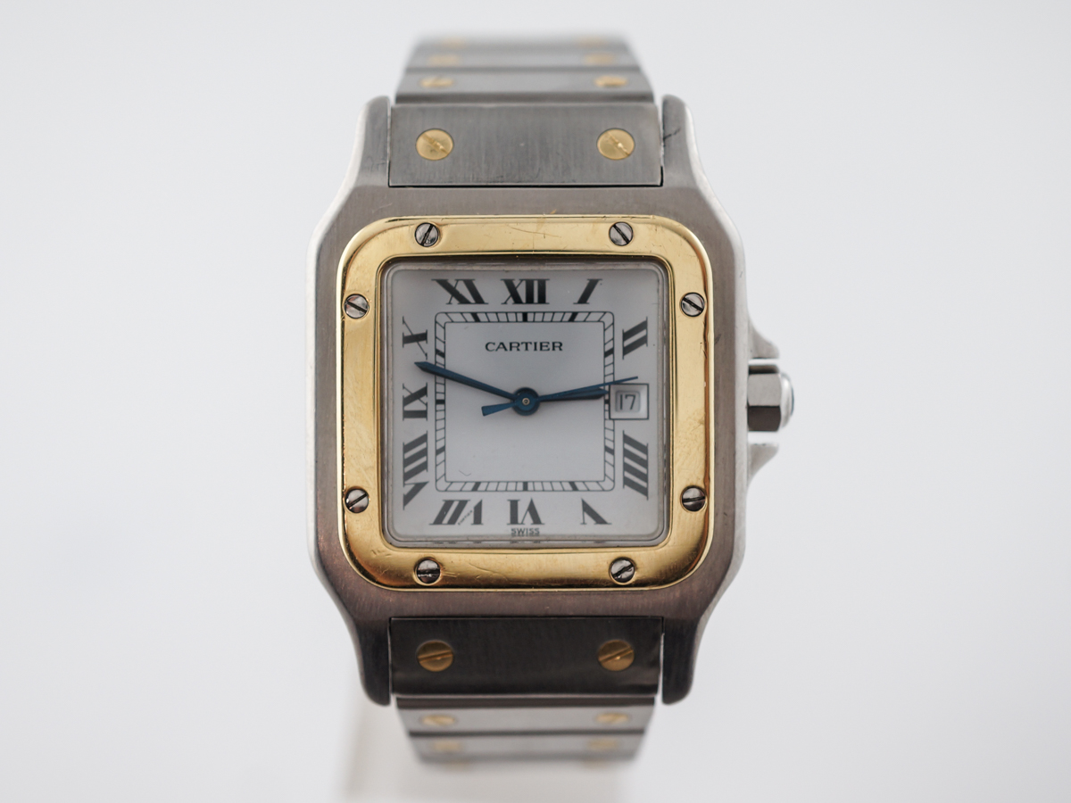 Cartier Santos Galbee 2961 Automatic Watch in 18k