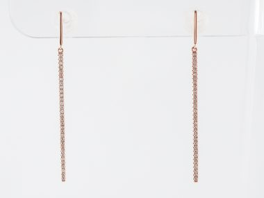 Diamond Dangle Earrings in 18k Rose Gold