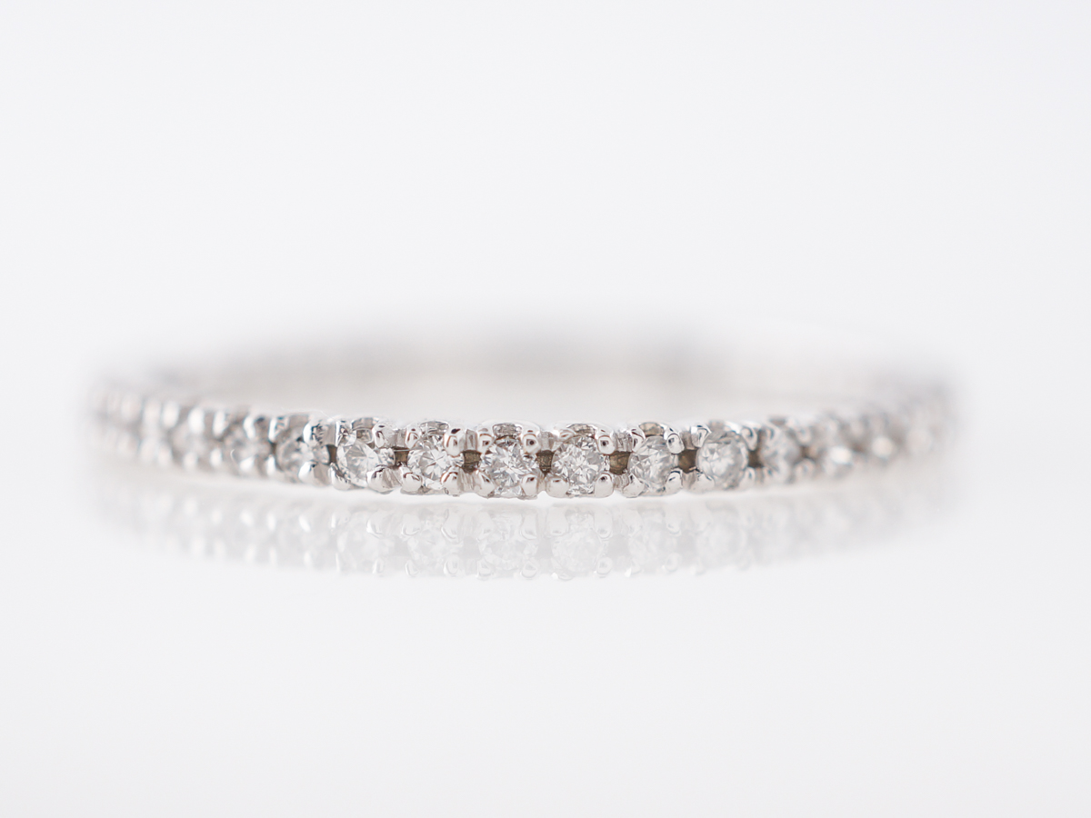 Delicate Diamond Wedding Band in 14k White Gold