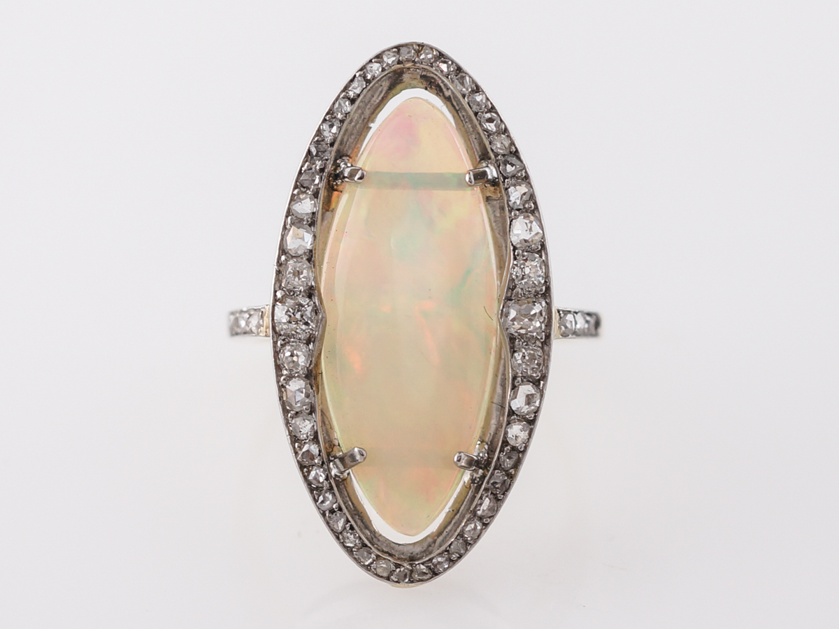 Victorian Opal & Diamond Cocktail Ring