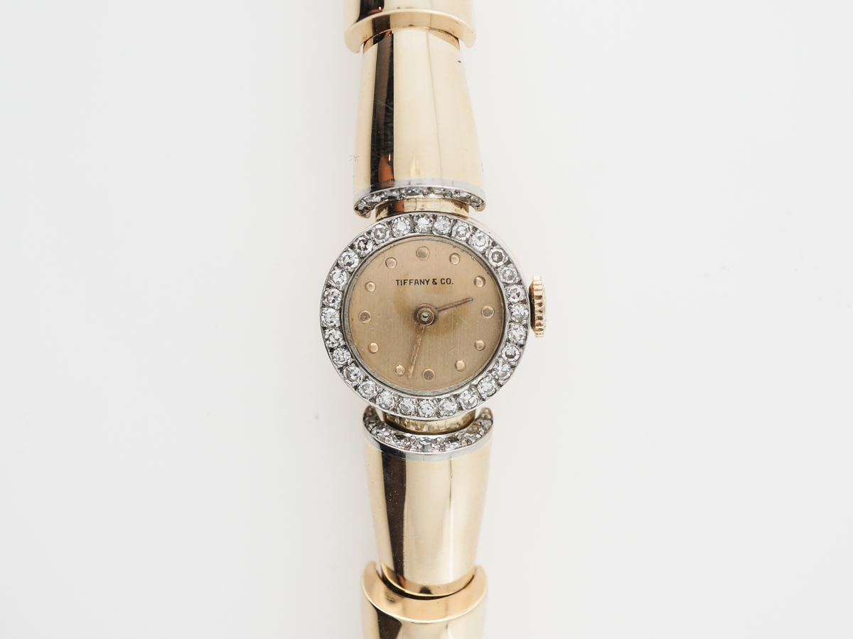 Vintage Tiffany & Co Diamond Watch in Yellow Gold