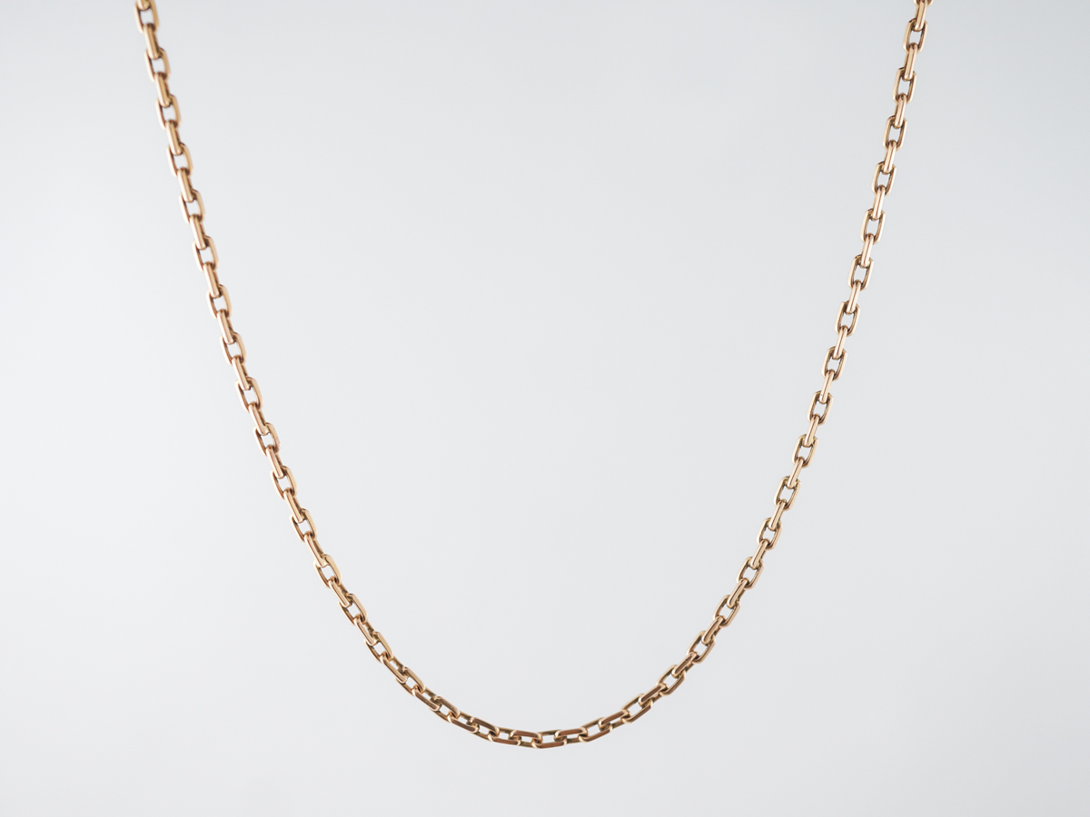 1950's Vintage Yellow Gold Chain Necklace