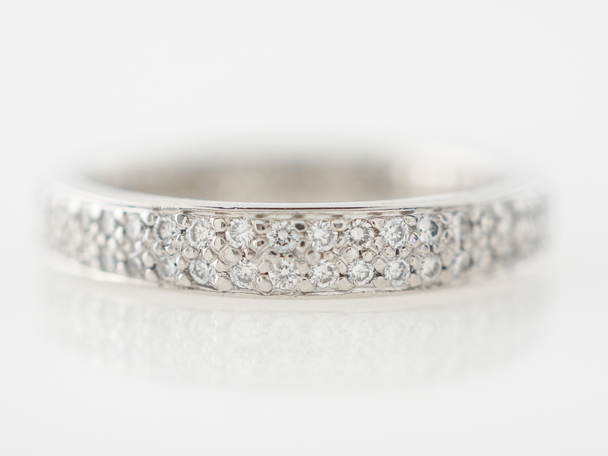 Pave Diamond Eternity Wedding Band in Platinum