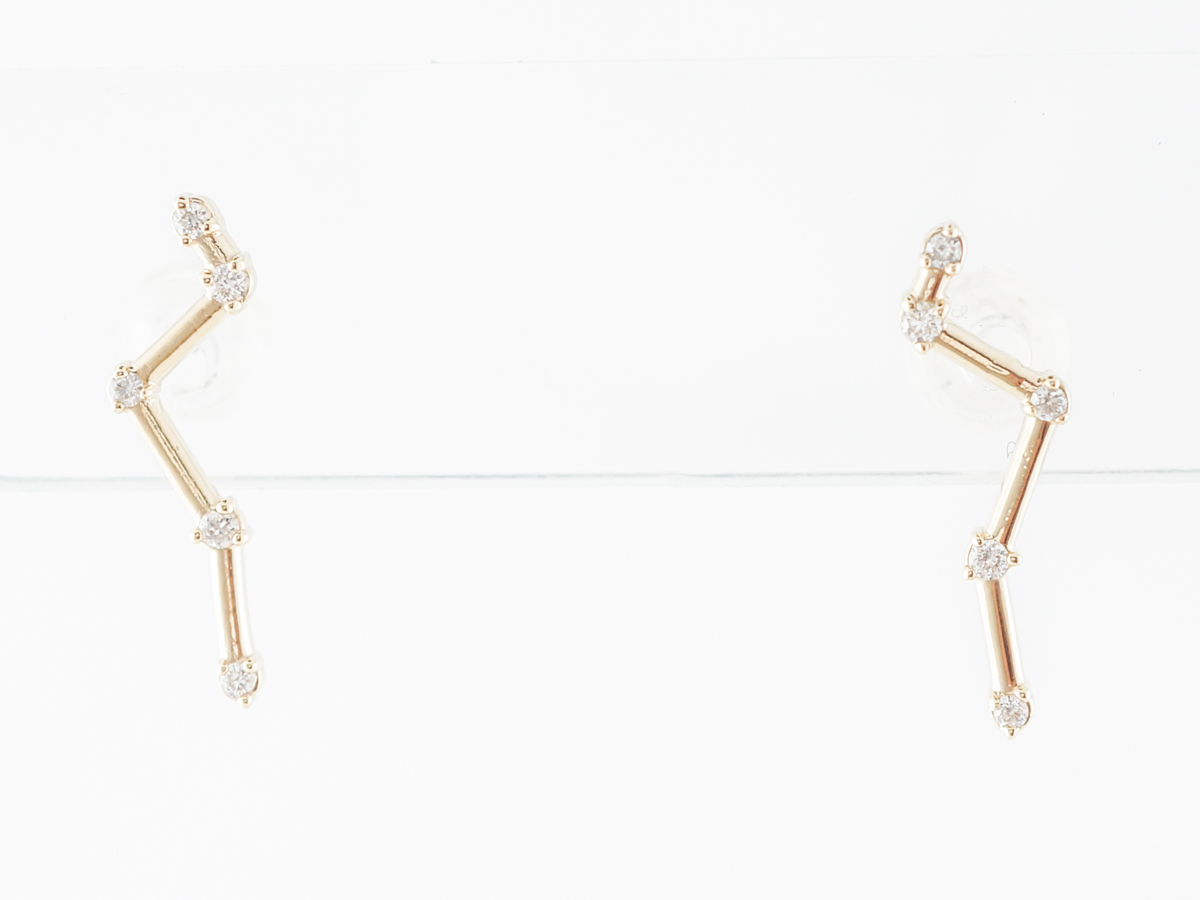 Diamond Constellation Earrings in 14k Yellow Gold
