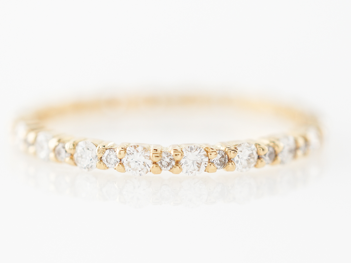 Yellow Gold Diamond Eternity Wedding Band 18k