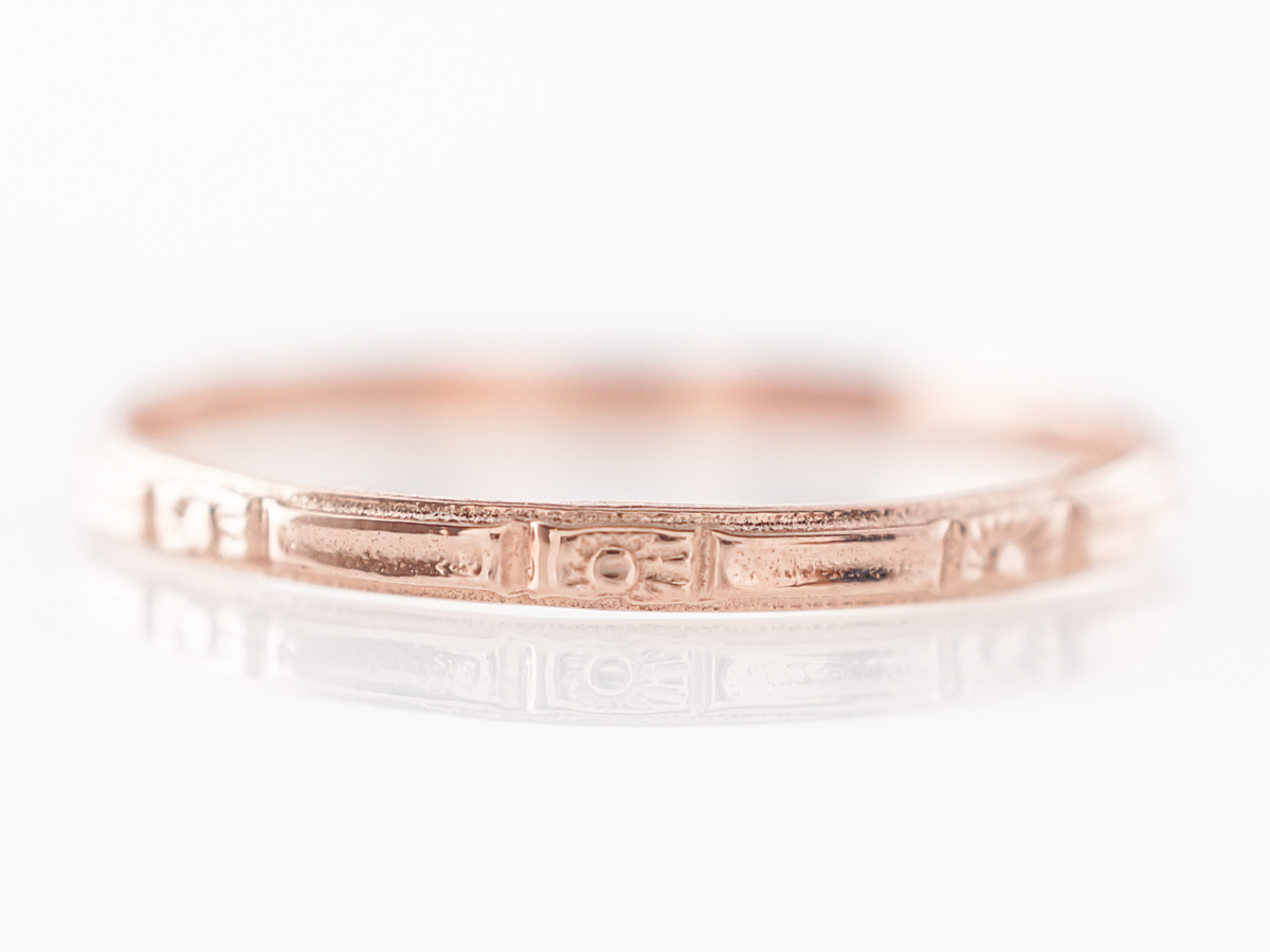 1920's Style Orange Blossom Band in Rose Gold