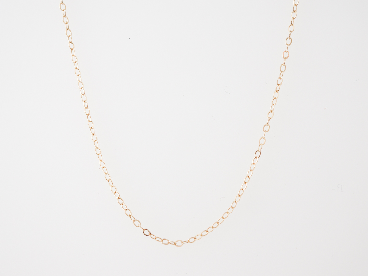 Thin Chain Necklace in 14k Yellow Gold