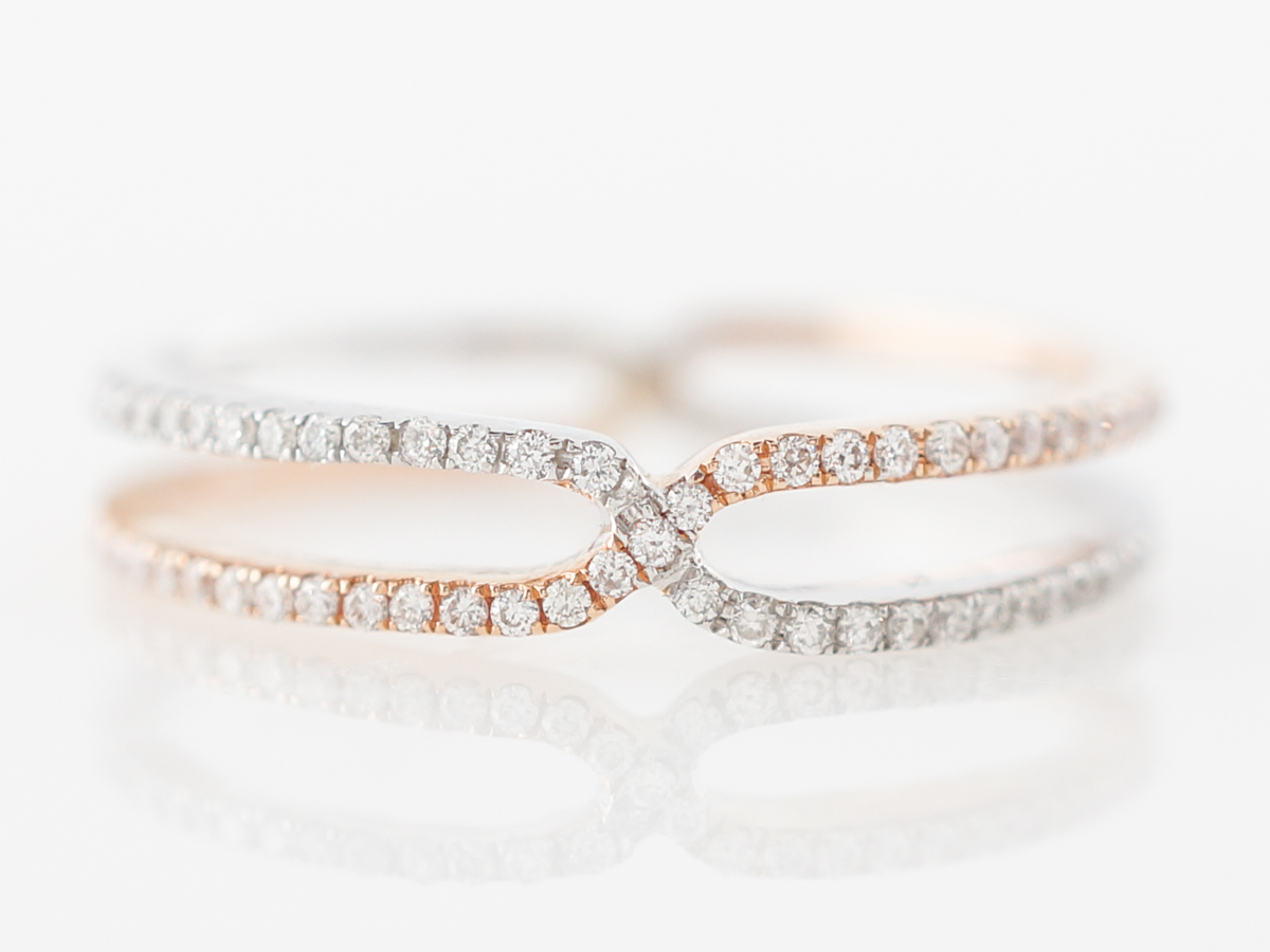 Two-Tone Diamond Ring in White and & Rose Gold