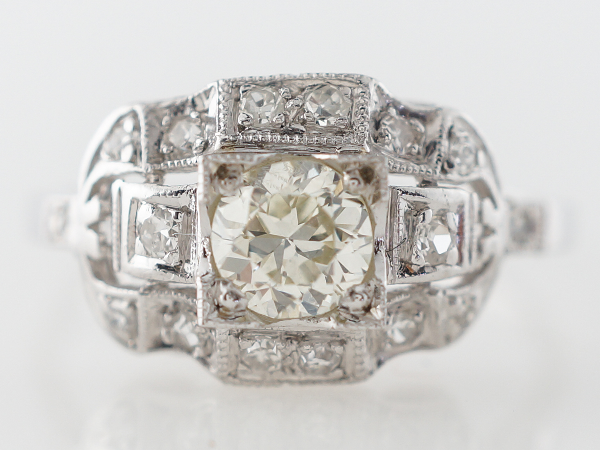 Half Carat Euro Diamond Engagement Ring