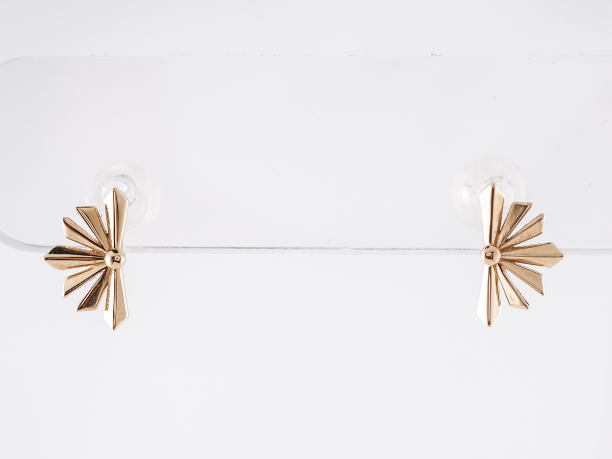 Starburst Stud Earrings in 14k Yellow Gold