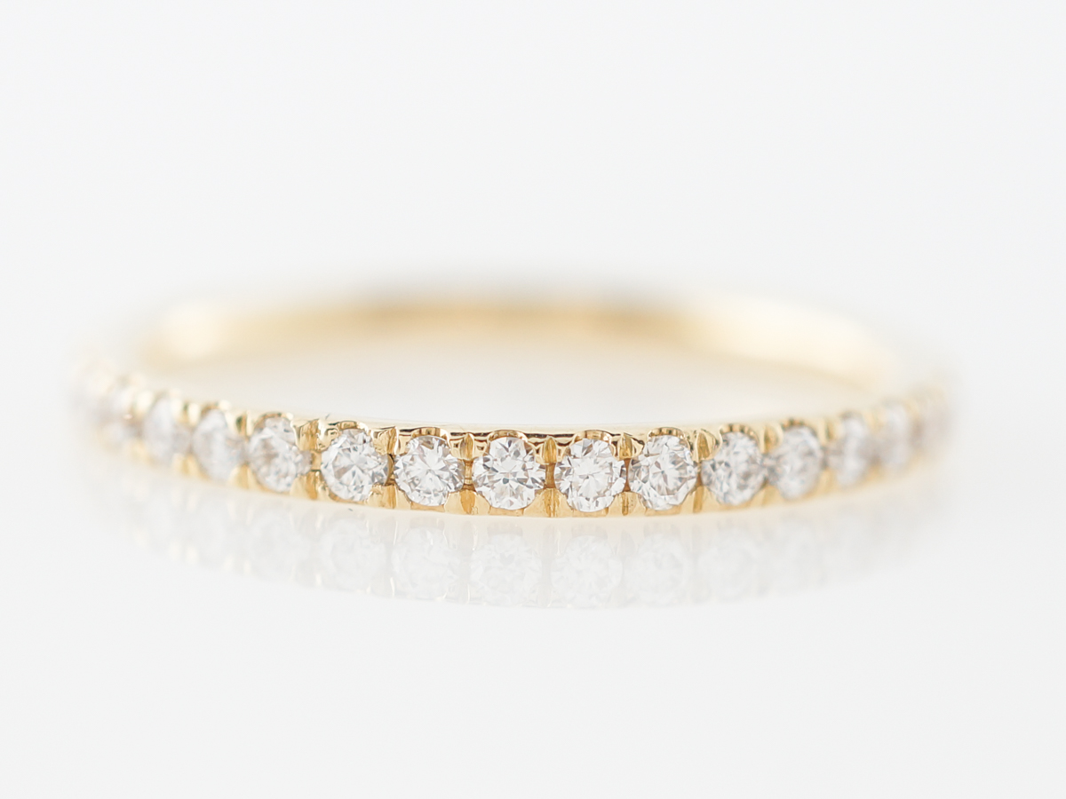 Thin Half Carat Diamond Eternity Wedding Band 18k