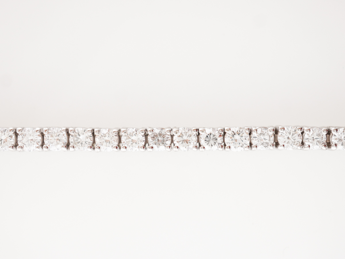 4.50 Carat Diamond Tennis Bracelet in White Gold