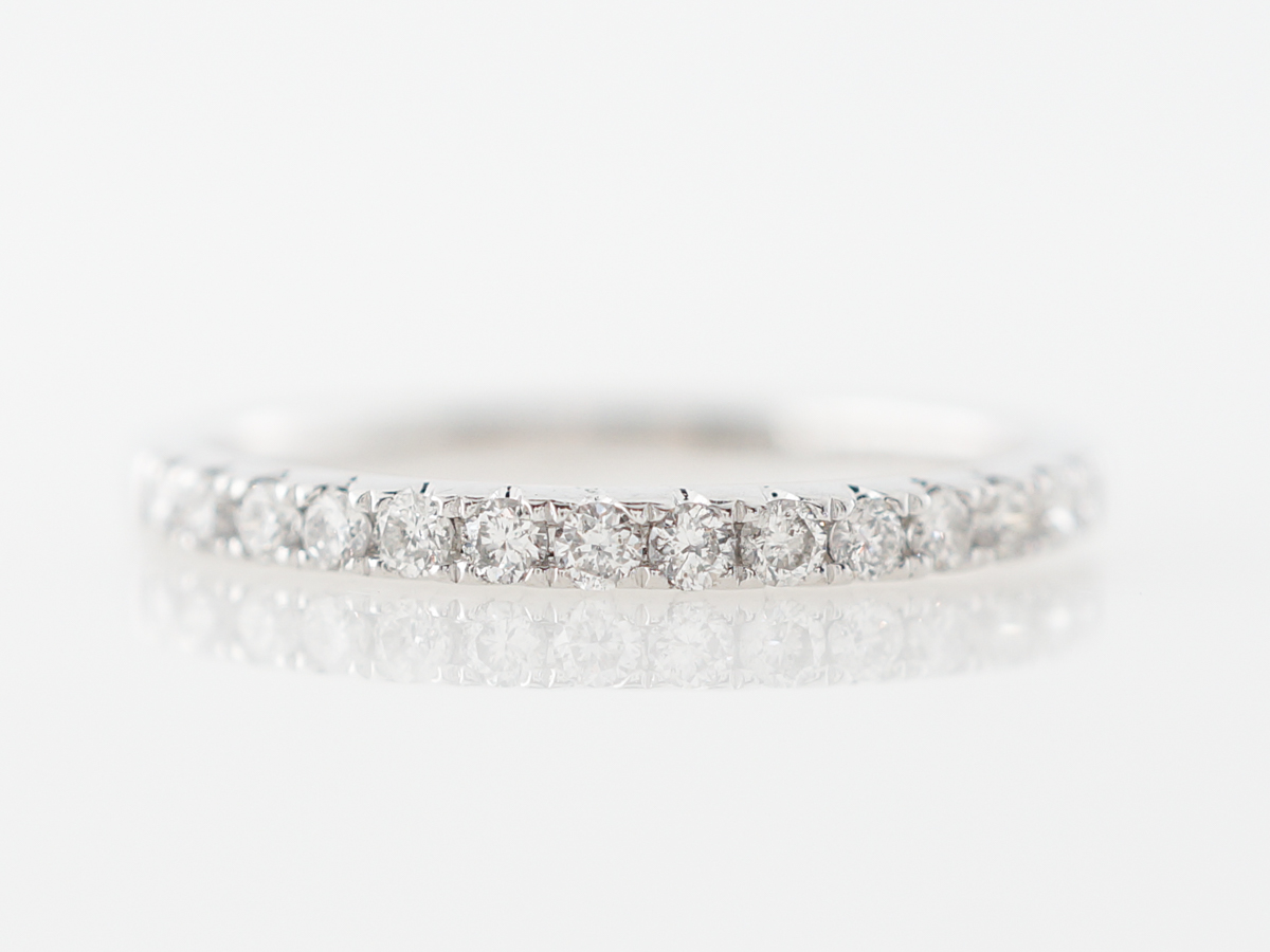 Prong Set Diamond Wedding Band in 14k White Gold