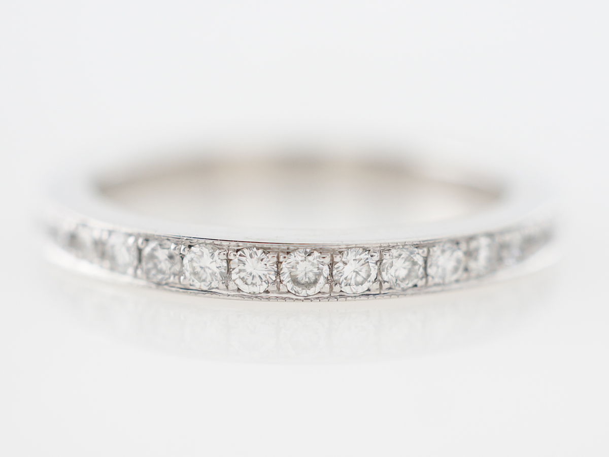 Half Carat Diamond Eternity Wedding Band in Platinum
