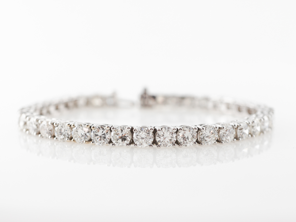 Straight Line Bracelet w/ 13.4 Carats of Diamonds