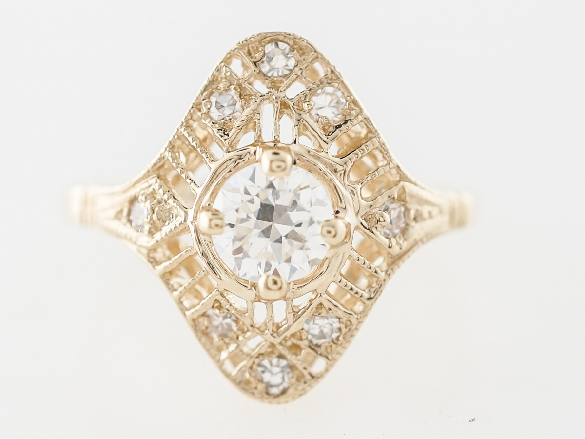 Vintage European Diamond <b>Engagem...