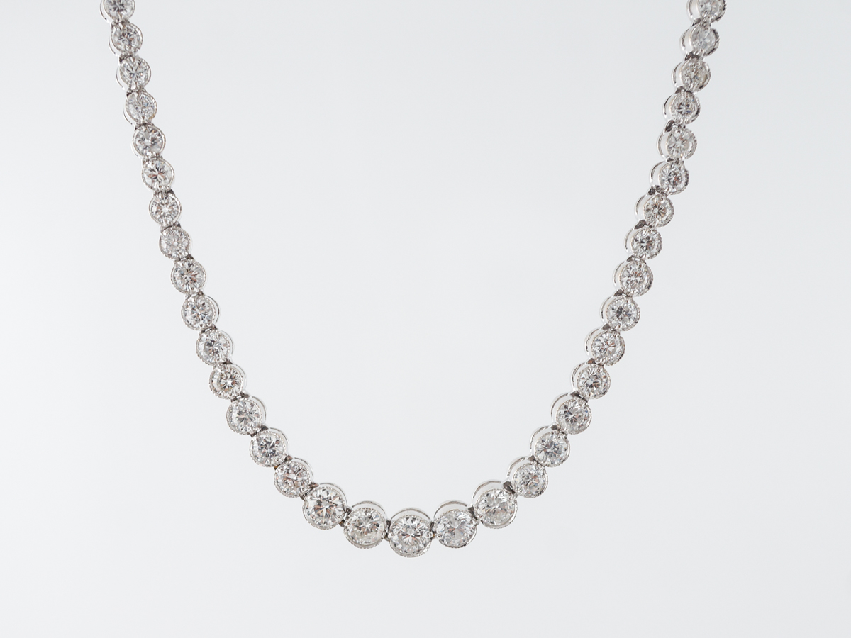 10 Carat Diamond Necklace in 18k White Gold