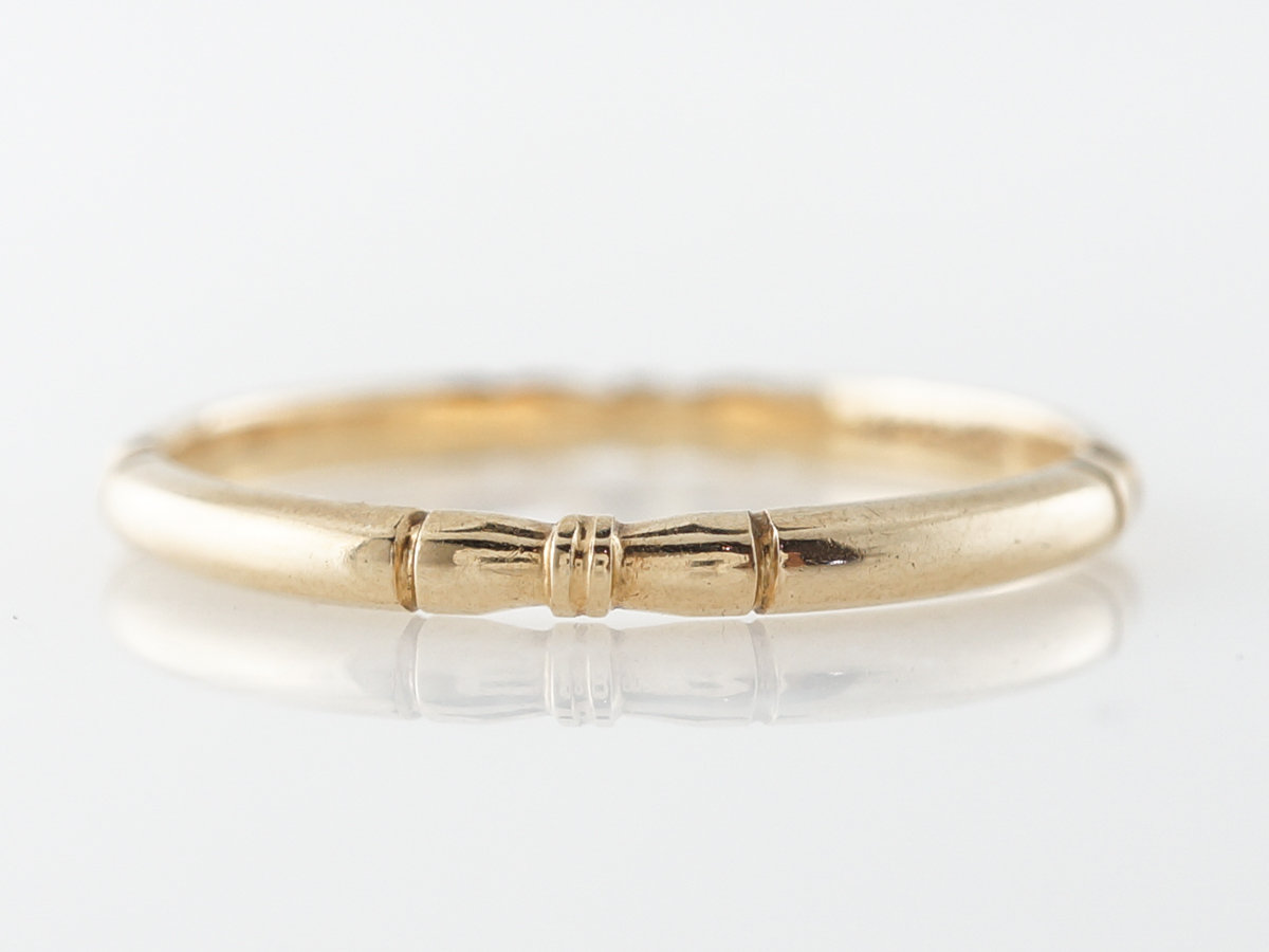 1930's Orange Blossom Wedding Band in 14k Yellow Gold