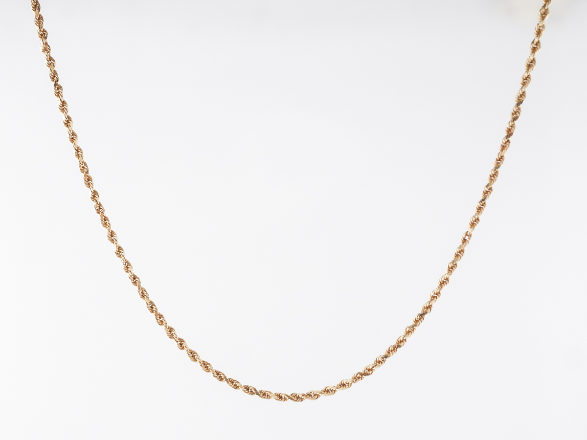 Rope Chain Necklace 18 inches in 14k Yellow Gold