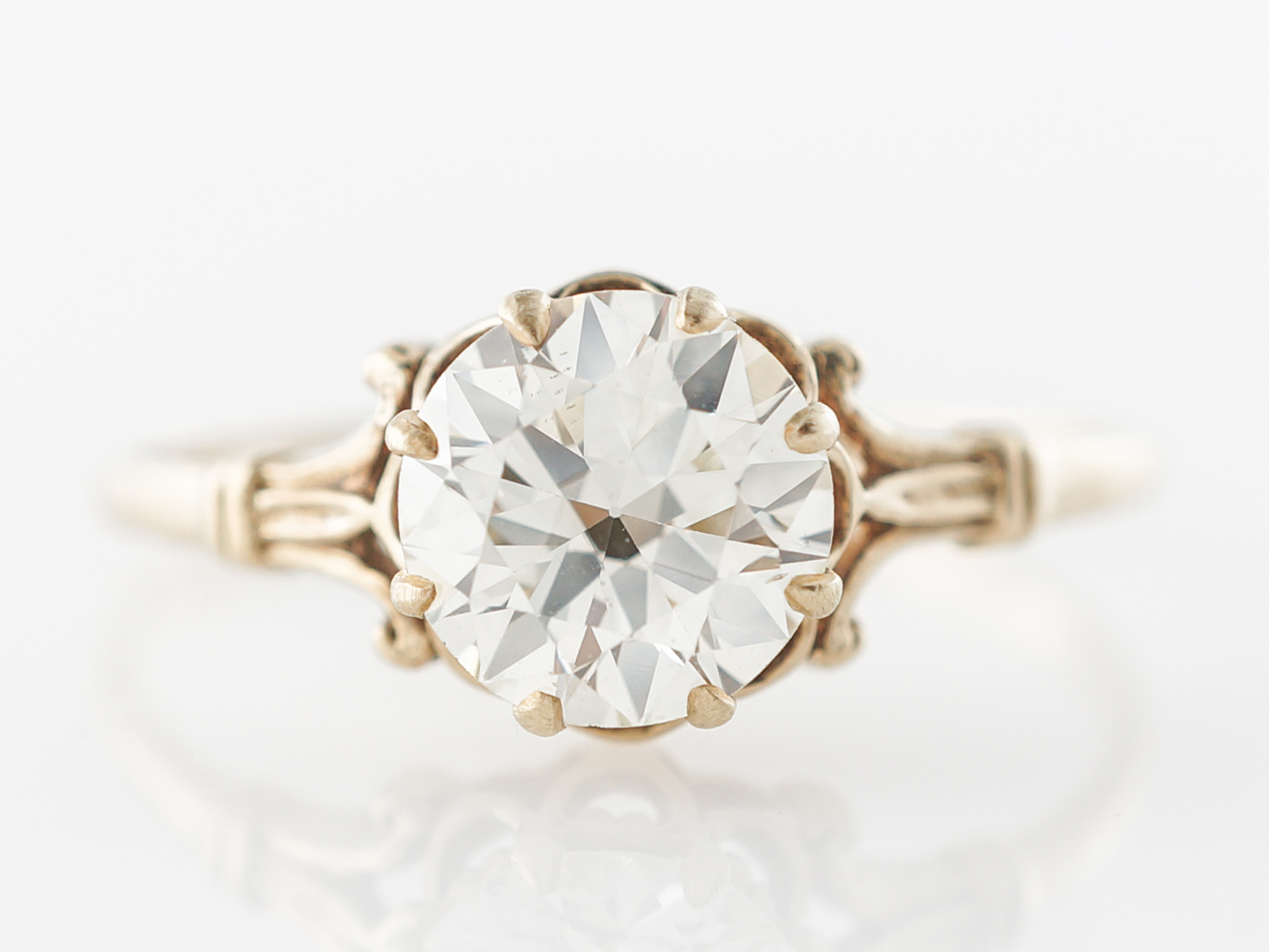 Victorian Diamond Engagement Ring in Yellow Gold