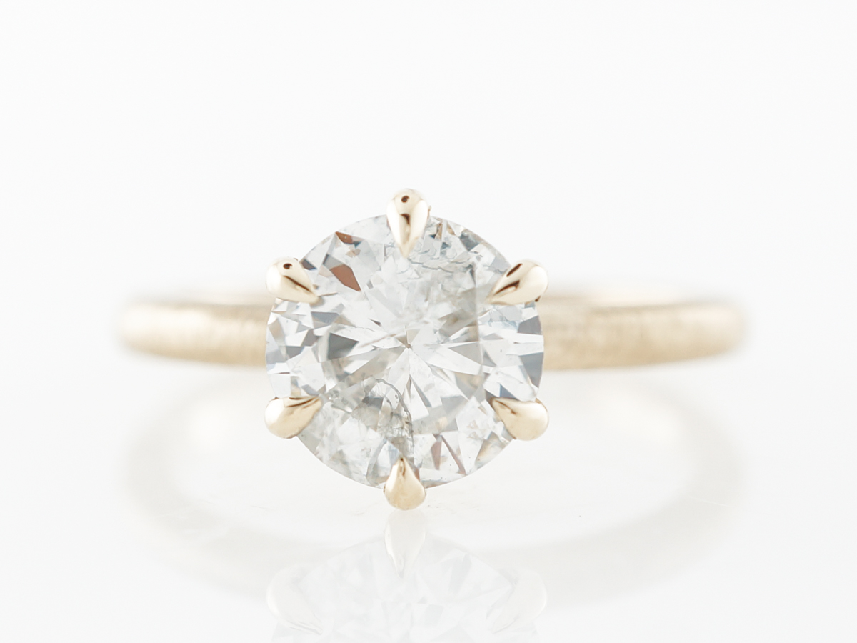 1.44 Old European Diamond Solitaire Engagement Ring
