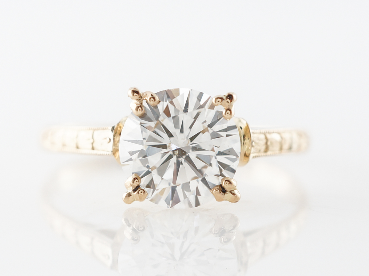 1.50 Carat Diamond Solitaire Engagement Ring in 18k