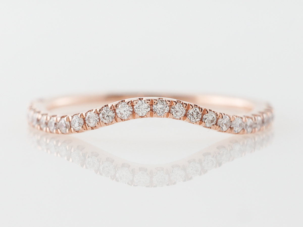 Diamond Contour Wedding Band w/ .19 Carats in Rose Gold