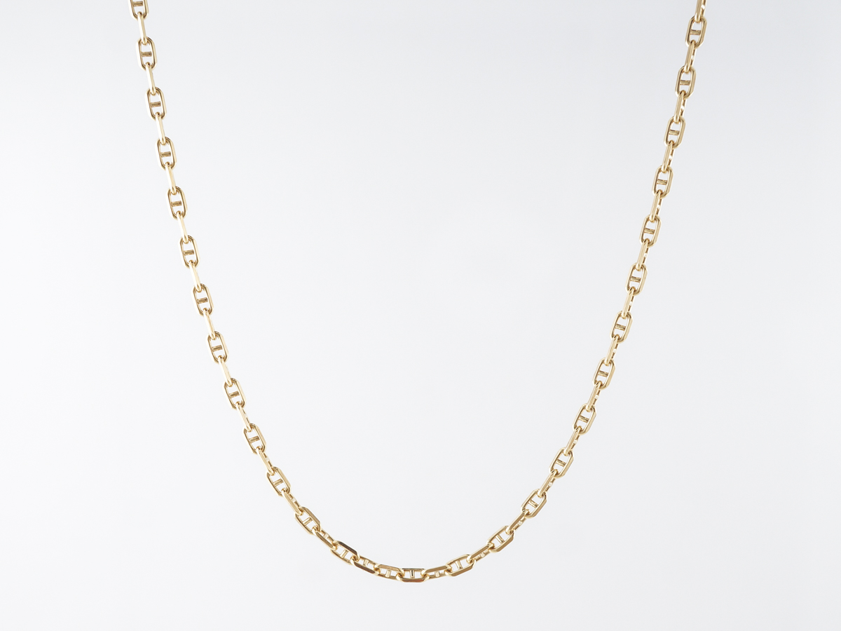 Modern 15 inch Italy Chain in 14k Yellow Gold