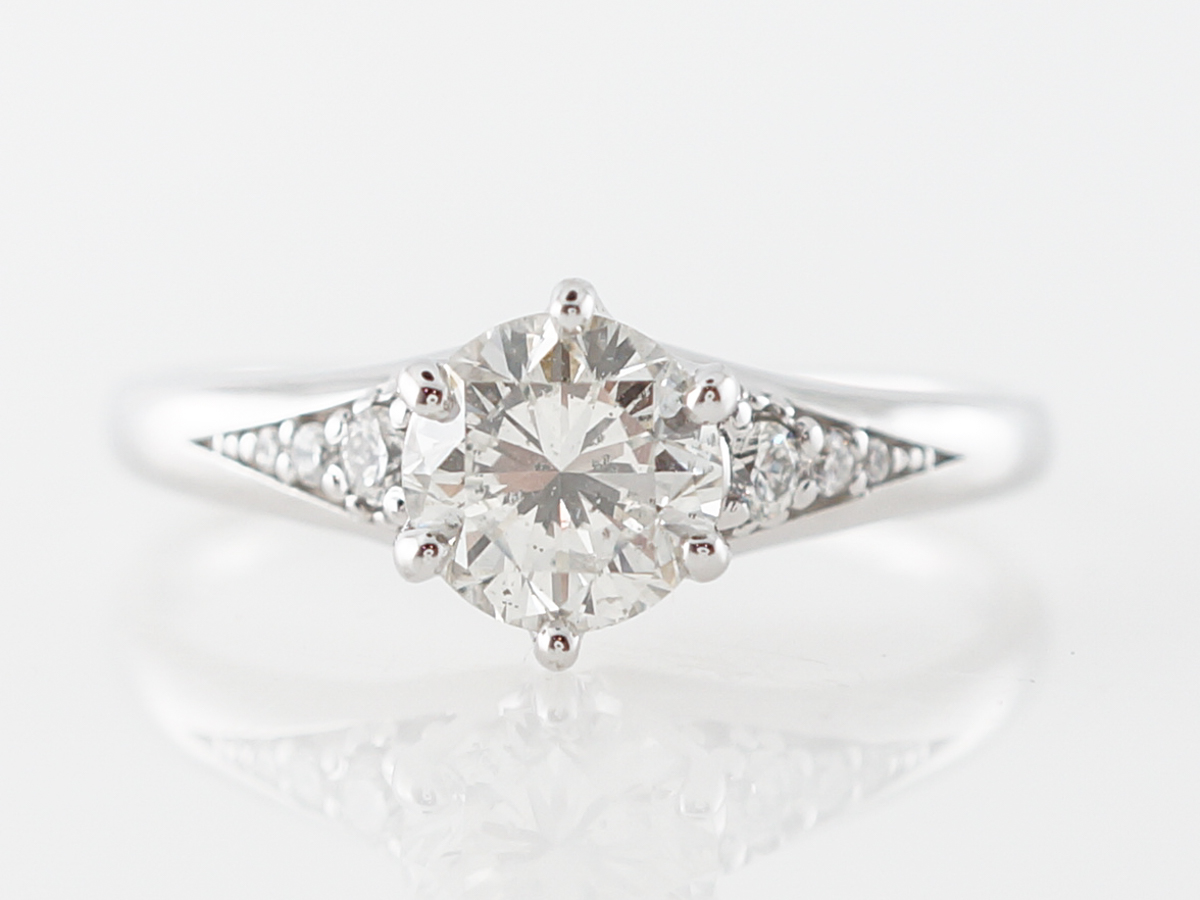 Round Brilliant Solitaire Engagement Ring in White Gold