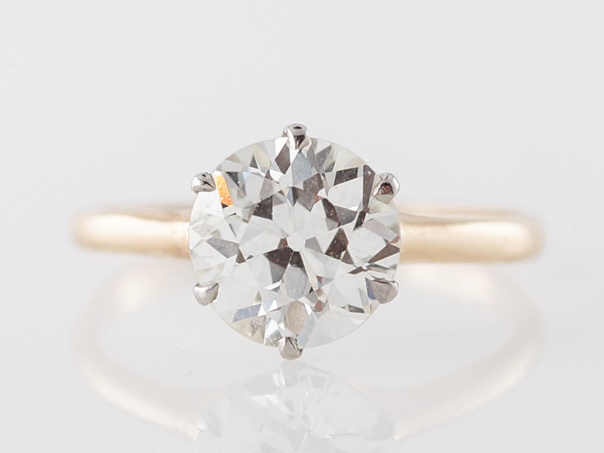 1.81 GIA Diamond Solitaire Engagement Ring in Yellow Gold