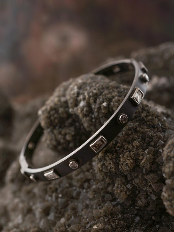 Bracelet Modern 1.94 Round Brilliant, Tapered & Straight Baguette Cut Diamonds in Sterling Silver