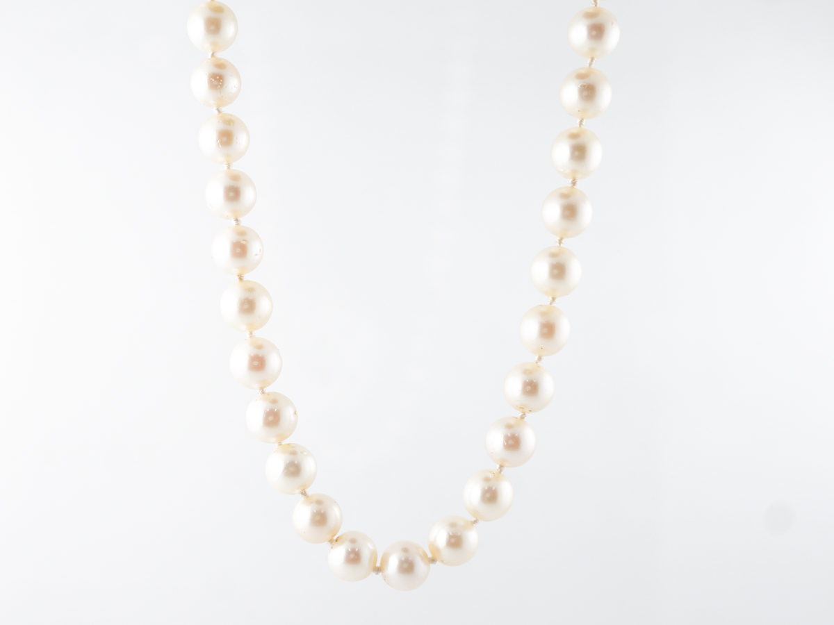 32 inch 8mm Pearl Necklace