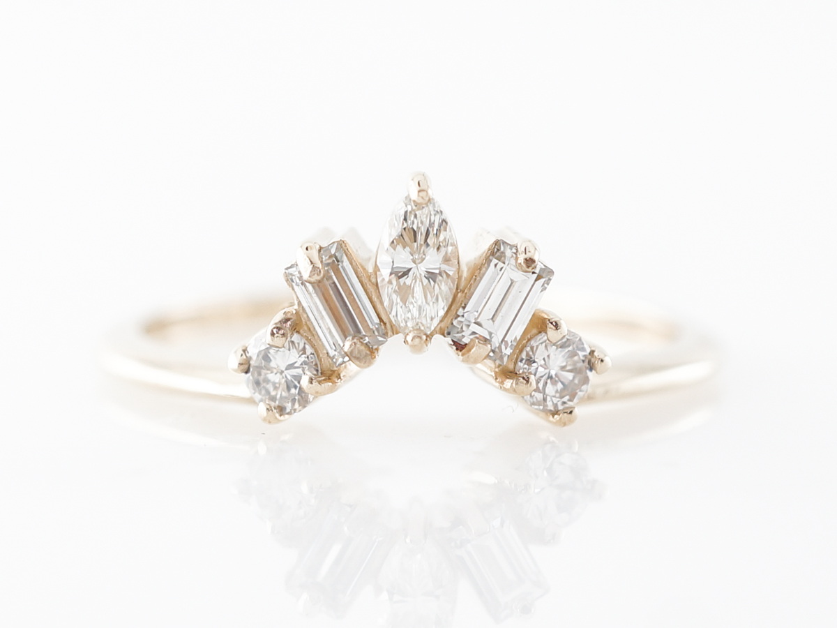 Marquise, Baguette & Round Diamond Wedding Band