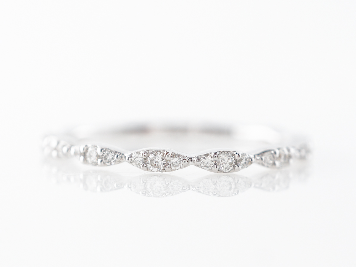 Round Diamond in Marquis Station Wedding Band