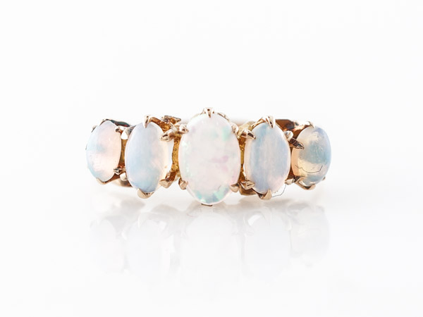 Vintage Victorian Opal Ring 14k Yellow Gold